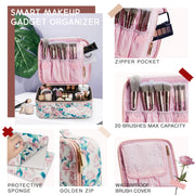 Stagiant Pink Rose Makeup Bag