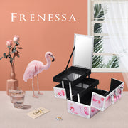 Frenessa Pink Flamingo Makeup Case