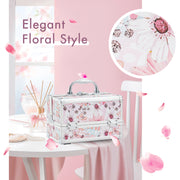 Frenessa Flower Makeup Case for Girls and Women