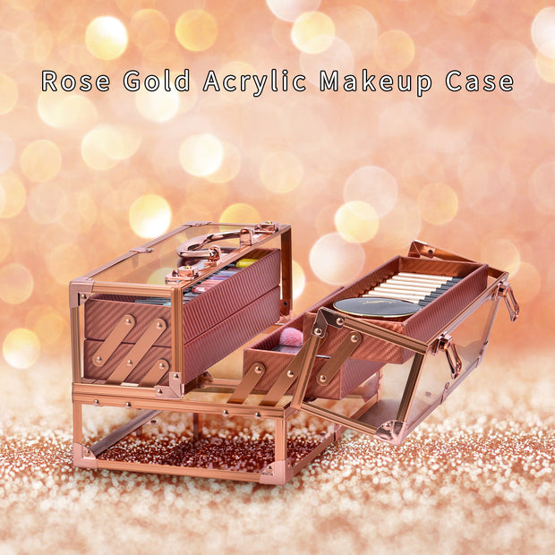 Frenessa Rose Gold Cosmetic Box - Joligrace