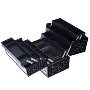 Black Star Makeup Train Case Large Cosmetic-Joligrace - Joligrace
