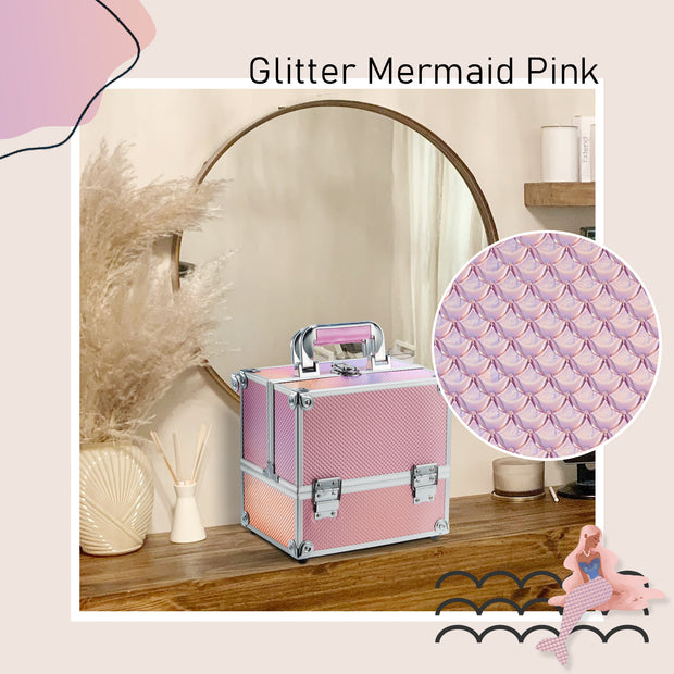 Stagiant Pink Mermaid Makeup Case