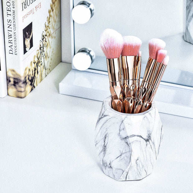 Joligrace Marble Brush Holder-Medium - Joligrace
