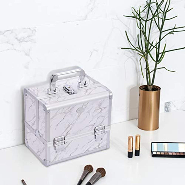 Joligrace Marble White Makeup Case