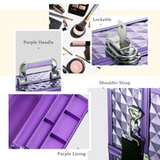 Frenessa Glittery Purple Makeup Case