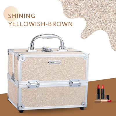Frenessa Yellow Brown Makeup Case