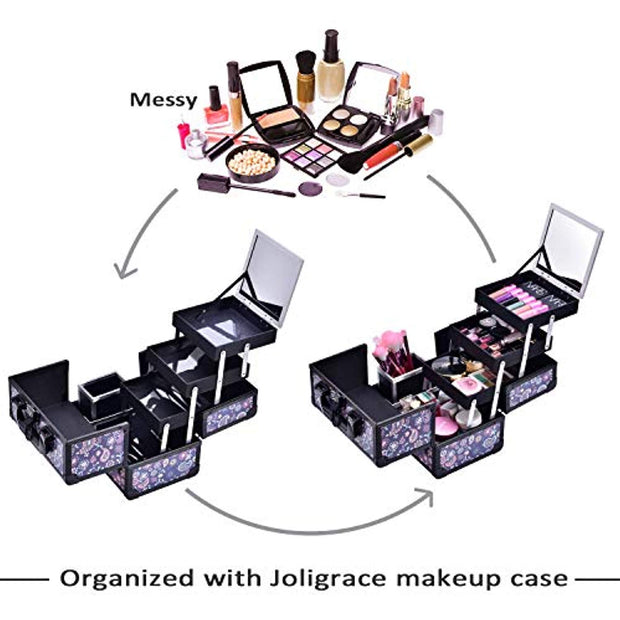 Joligrace Purple Makeup Case