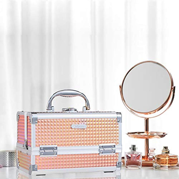 Joligrace Shiny Orange Makeup Case - Joligrace