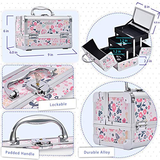 Joligrace White Flower Makeup Case - Joligrace