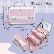 Frenessa Shiny Pink Makeup Case