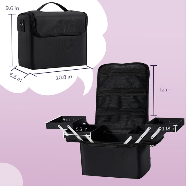 Stagiant Black Large Makeup Case