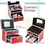 Frenessa Red Nail Polish Makeup Case