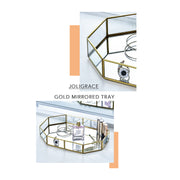 Joligrace Gold Mirrored Tray Large - Joligrace