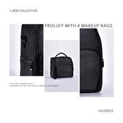 Joligrace Trolley With 4 Makeup Bags - Joligrace