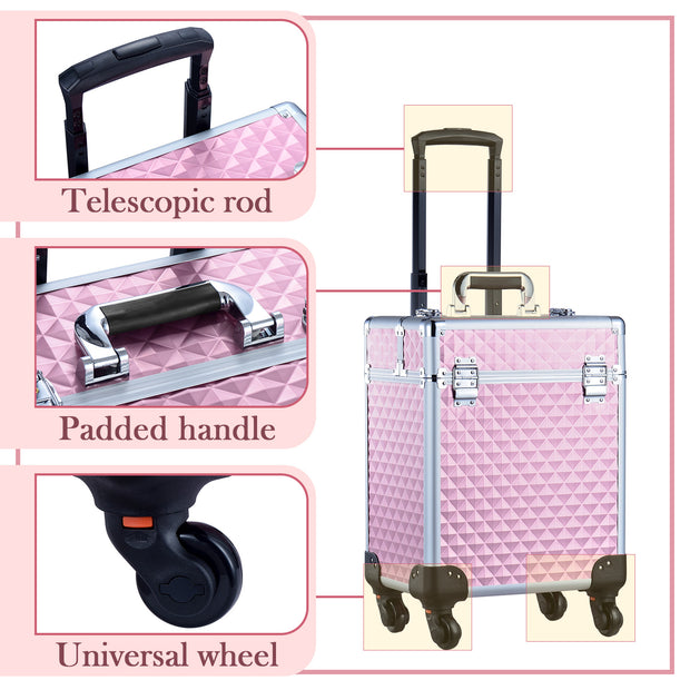 Joligrace Pink Makeup Trolley