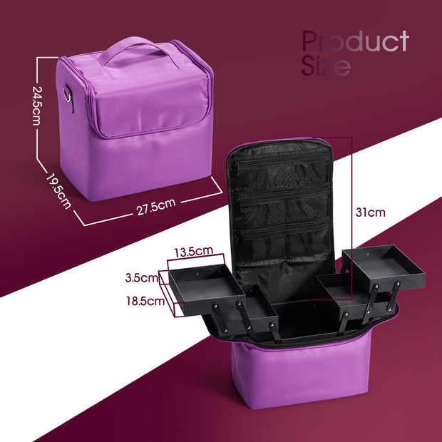 HST Purple Makeup Case