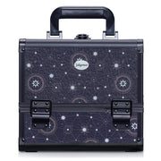 Navy Star Chart Professional Makeup Train Case with Brush Holder - Joligrace