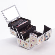 Beige Owl Bird Makeup Train Case with Mirror Cute Cosmetic Storage-Joligrace - Joligrace