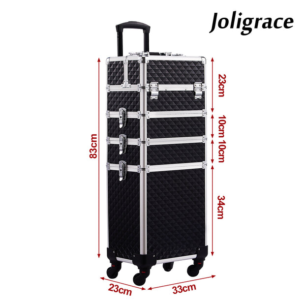 Joligrace Black 4-in-1 Makeup Trolley