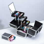 Black Diamond Cosmetic Train Case Makeup Storage-Joligrace - Joligrace