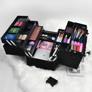 Black Diamond Professional Makeup Train Case Large Storage Cosmetic-Joligrace - Joligrace
