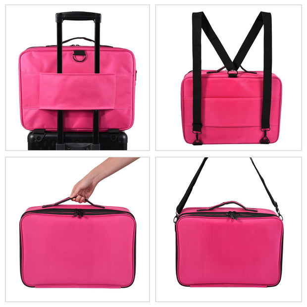 Joligrace Hot Pink Makeup Bag