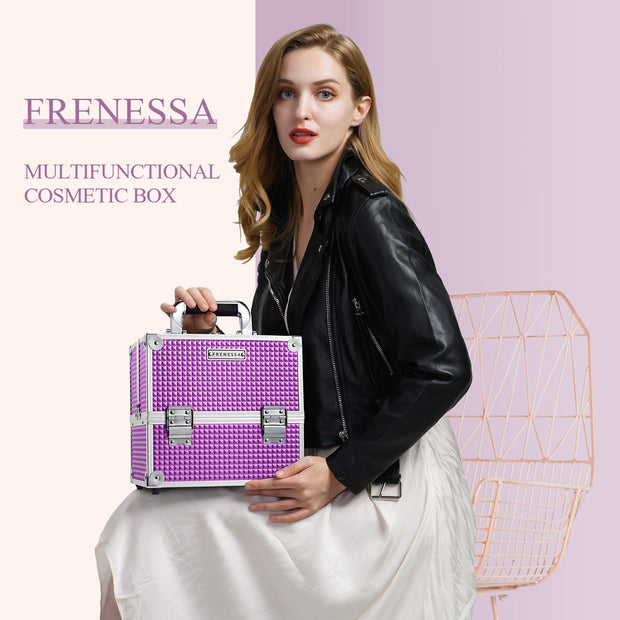 Frenessa Purple Cube Makeup Case