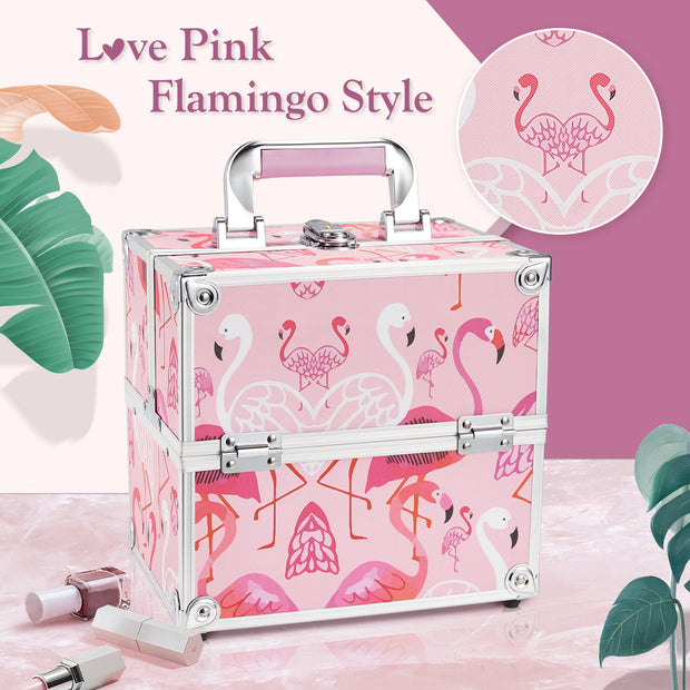 Frenessa Love Pink Flamingo Makeup Case
