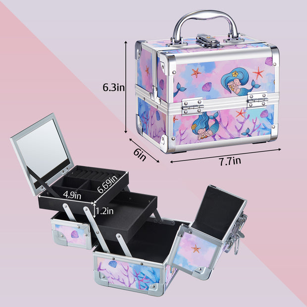 Joligrace Mermaid Princess Makeup Case
