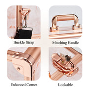 Joligrace Rose Gold Makeup Case