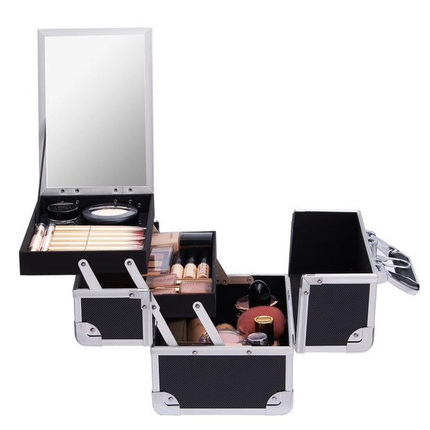 Frenessa Modern Black Makeup Case - Joligrace