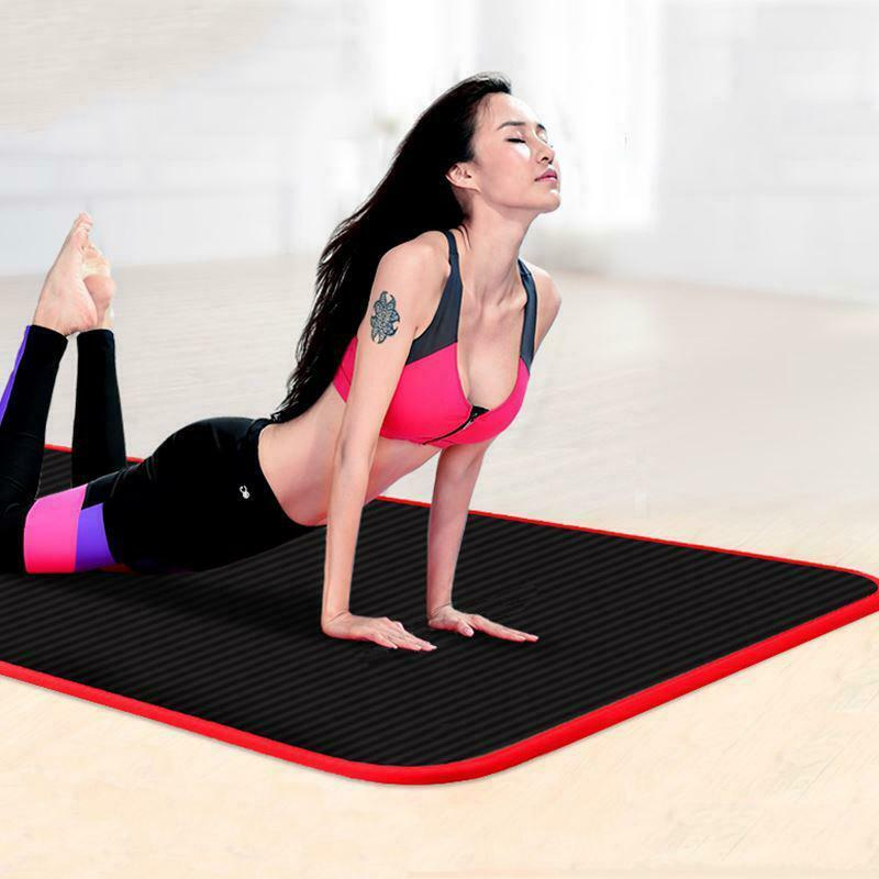 10mm Thick Yoga Mat Exercise Extra Non-slip Cushion Fitness Pilates Soft Pad