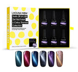 Lagunamoon Gel Nail Polish Magnetic 3D Cat Eye Varnish UV LED Soak Off Gel Polish Nail Art 6pcs