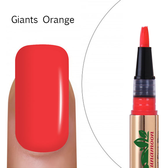 Gel Nail Polish Pen,Soak Off UV LED Color Gel — Giants Orange
