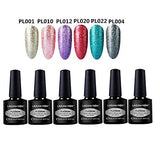Lagunamoon Platinum Gel Nail Polish Kit Soak Off UV LED Gel Polish Varnish Lacquer Beauty Salon Manicure Nail Art Set 8ML 6PCS