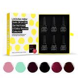 Gel Nail Polish Gift Kit 6pcs Soak Off UV Led Gel Nail Polish New Start Lacquers Manicure Pedicure Nail Art Set