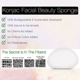 Konjac Natural White Facial Cleansing Sponge