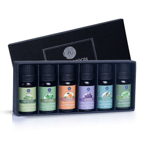 Lagunamoon Essential Oils Top 6 Gift Set Pure Essential Oils for Diffuser, Humidifier, Massage, Aromatherapy, Skin & Hair Care