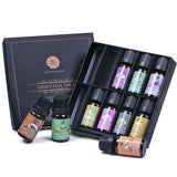 Essential Oils with Box, Premium Pure Therapeutic Top 10 Aromatherapy Oils