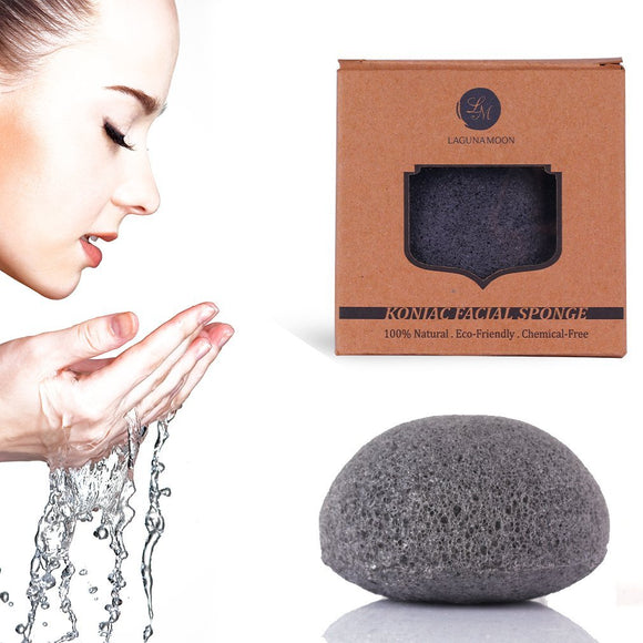 Konjac Activated Charcoal Facial Cleansing Sponge