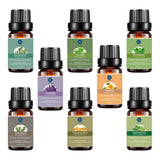 Lagunamoon Top 8 Essential Oils Set,Pure Therapeutic Grade Aromatherapy Oils,Lavender,Eucalyptus,Lemongrass,Frankincense,Orange,Rosemary,Peppermint,Tea Tree Essential Oils