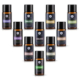 Lagunamoon Top 10 Essential Oils in Travel Bag,Aromatherapy Oils Lavender Peppermint Frankincense Rosemary Bergamot Cedar Sandalwood Chamomile Basil Vanilla Therapeutic Grade