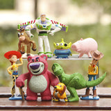 9PCS Toy Story 3 Woody Jessie Buzz Lightyear Figure Toys