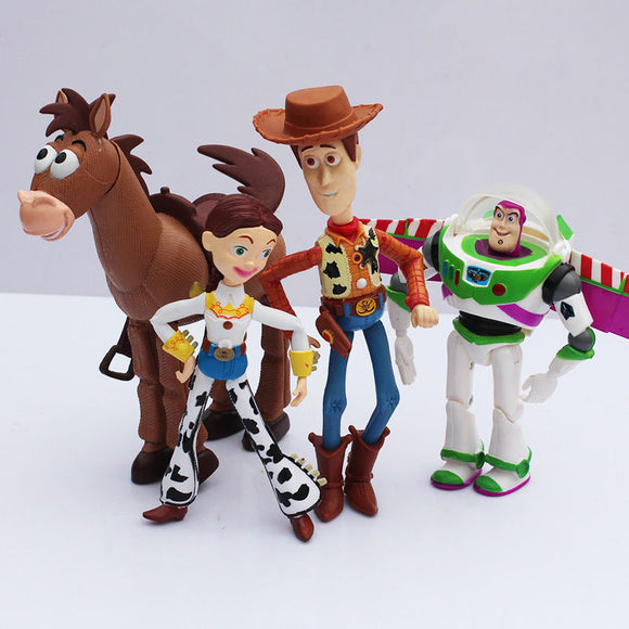 4 pcs/set Toy Story 3 Buzz Lightyear Woody Jessie PVC Action Figures