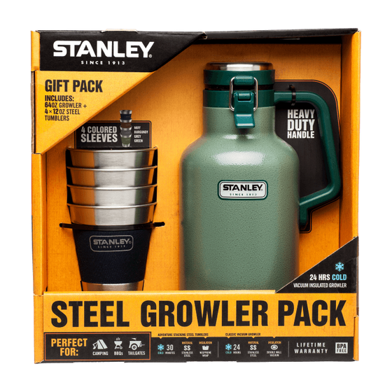 Stanley Classic Growler + Stacking Steel Tumblers Gift Set