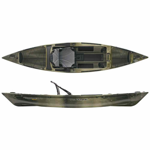 Native Watercraft Ultimate FX 12 Kayak Hidden Oak