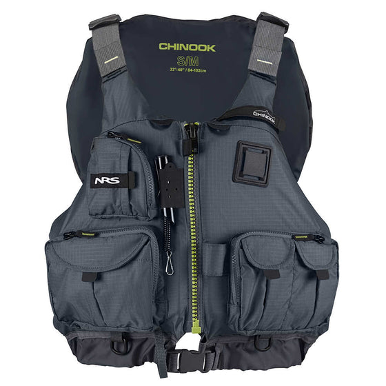 NRS Chinook Fishing PFD Gray