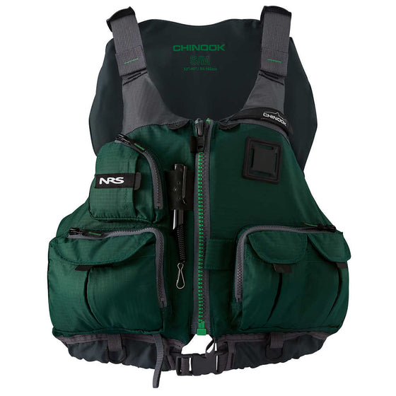 NRS Chinook Fishing PFD Green