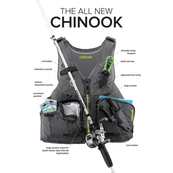 NRS Chinook Kayak Fishing PFD
