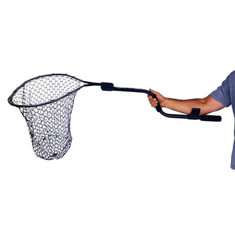 Yak Attack Leverage Landing Net, 20'' x 21'' Hoop with Foam Extension